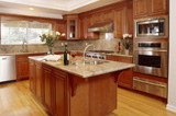 wooden kitchen suite